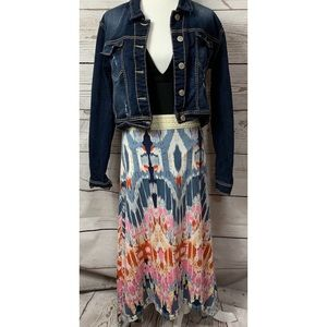 NWOT Nine 1 Eight Tribal/Aztec Maxi Skirt